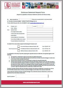 Forms for Body Corporates - disclosure request form