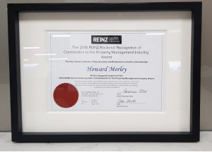 Howard Morley recognised for contribution to the property management industry